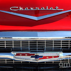 1957 Chevy 210 Grill - 7802 by Gary Gingrich Galleries