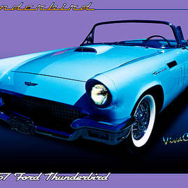 1957 Thunderbird Poster by Chas Sinklier