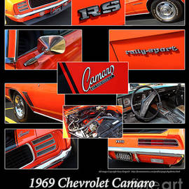 1969 Chevrolet Camaro RS-Orange by Gary Gingrich Galleries