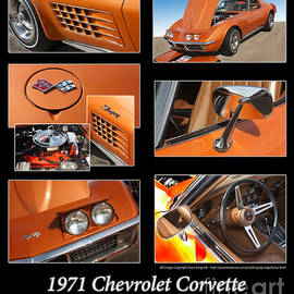 1971 Chevrolet Corvette Stingray Coupe-Orange by Gary Gingrich Galleries