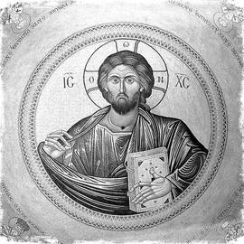Stephen Stookey - Christ Pantocrator in Black and White -- Church of the Holy Sepulchre