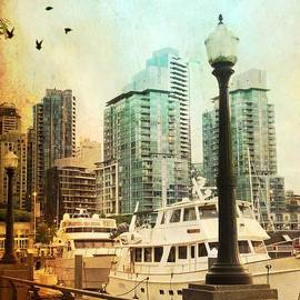 Coal Harbour Marina Vancouver British Columbia by Carol Cottrell