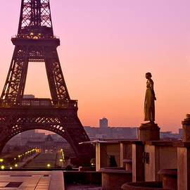 Eiffel Tower At Dawn / Paris by Barry O Carroll