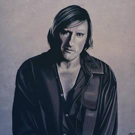 Paul Meijering - Gerard Depardieu Painting