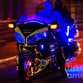 Illuminated Harley ride by Heiko Koehrer-Wagner