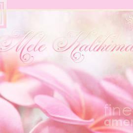 Mele Kalikimaka - Pink Plumeria - Hawaii by Sharon Mau