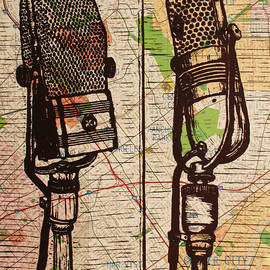 2 Rca Microphones by William Cauthern