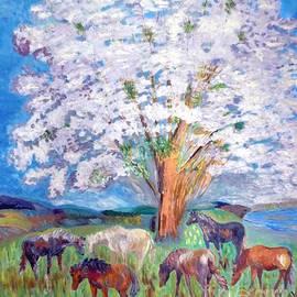 Vicky Tarcau - Spring and Horses 1