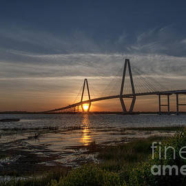 Sunset over the Bridge by Dale Powell