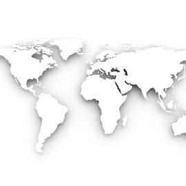 White World Map by Jesper Klausen / Science Photo Library