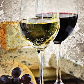 Wine And Cheese by Elena Elisseeva