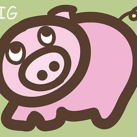 Nursery Art - Baby Pig Art for the nursery