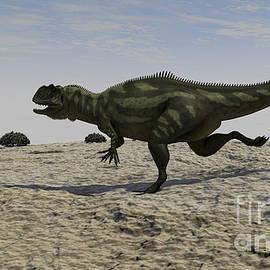 Yangchuanosaurus Running by Kostyantyn Ivanyshen