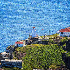 Fort Amherst Lighthouse On The South Side Of St Johns Harbour by Perla Copernik