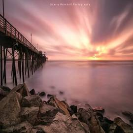 Long Exposure Sunset At The Oceanside