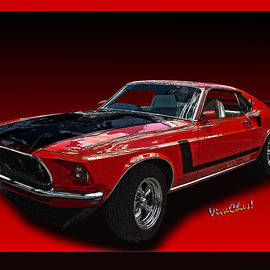 69 Mustang Mach 1 by Chas Sinklier