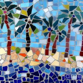 Lou Ann Bagnall - 7 Palm Trees Mosaic
