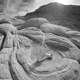 7817 High Desert Nude Meditation  by Chris Maher