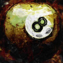 8 Ball Abstract by David G Paul