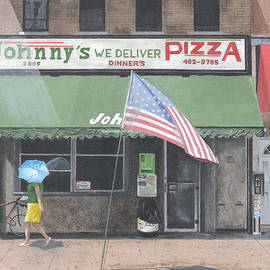 90 Degrees In The Shade To Hot For Pizza by Stuart B Yaeger