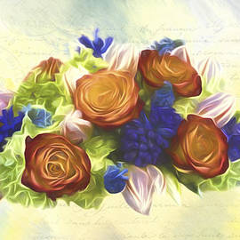 Jordan Blackstone - A Beautiful Life - Vintage Flower Art