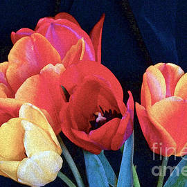 A Bright Warmth Of Tulips by Byron Varvarigos