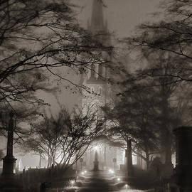 A church enveloped in mist by Aleksander Rotner