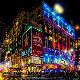 A December Evening At Herald Square by Chris Lord