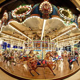 A fisheye view of a Merry Go Round by John Babis