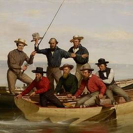 Junius Brutus Stearns - A Fishing Party Off Long Island