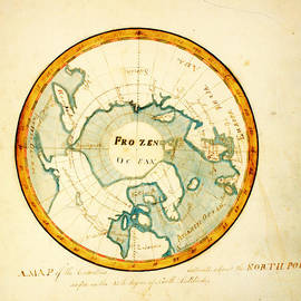 MotionAge Designs - A Map of the Countries situate about the North Pole as far as the 50th degree of north latitude ca