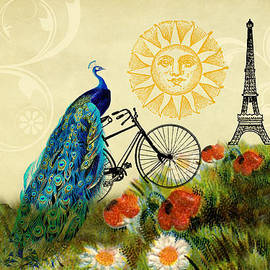 A Peacock in Paris by Peggy Collins