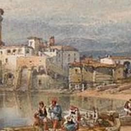 William Leighton Leitch - A Sicilian Village