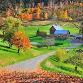 Sleepy Hollow Autumn - Pomfret Vermont by T-S Photo Art