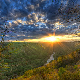 Michael Bowen - A Spring sunset on Beauty Mountain in West Virginia.