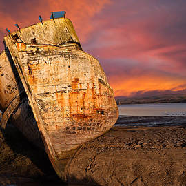 Kathleen Bishop - Abandoned Fishing Boat at Inverness
