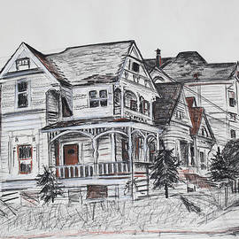 Abandoned Victorian and Neighbors in Oakland California by Asha Carolyn Young