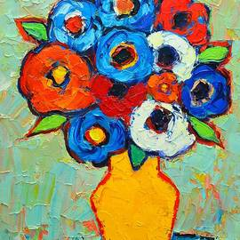 Ana Maria Edulescu - Abstract Bunch Of Colorful Poppies And Anemone