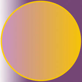 Abstract Circle - Purple And Orange by Celestial Images
