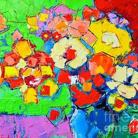 Ana Maria Edulescu - Abstract Colorful Flowers