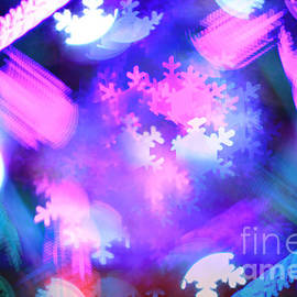 Abstract Colorful Snowflakes Bokeh Lights by Beverly Claire Kaiya
