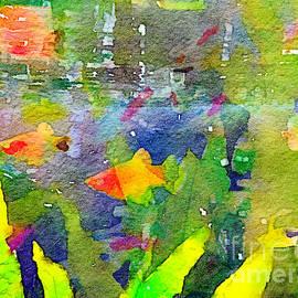 Abstract Goldfish Fish Bowl Aquarium Watercolor 2 by Beverly Claire Kaiya