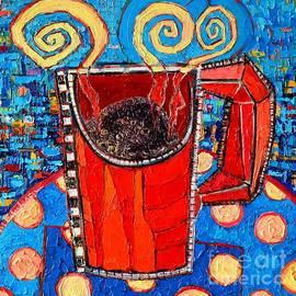 Ana Maria Edulescu - Abstract Hot Coffee In Red Mug