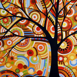 Amy Giacomelli - Abstract Modern Tree Landscape THOUGHTS OF AUTUMN by Amy Giacomelli