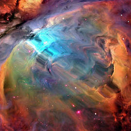 Abstract Multicolored Outer Space by Gary Waters
