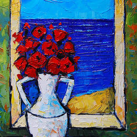Mona Edulesco - Abstract Poppies By The Sea