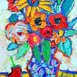 Ana Maria Edulescu - Abstract Still Life - Colorful Flowers And Fruits