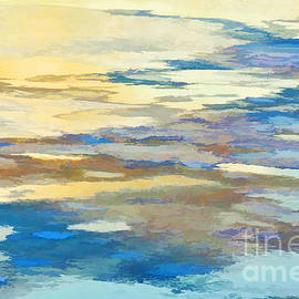 Abstract Winter River I by Regina Geoghan