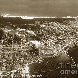 Aerial  of Monterey Calif. Oct. 25 1934 by California Views Archives Mr Pat Hathaway Archives