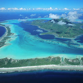 Barrier Reef Around Bora Bora by Martin Kers